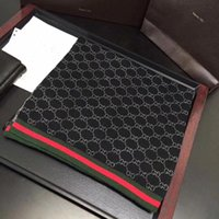 foulards blancs points noirs achat en gros de-Haute qualité foulards de luxe marque célèbre écharpe Designer pour mens cachemire longues écharpes taille 180x30cm sans boîte RE-6760