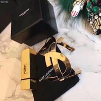 botão encaixa pulseiras venda por atacado-Designer Expansível Luxo Pulseira Yves Pulseira Manchette Mulheres Meninas Cinto Cuff Pulseiras Botão Snap Aço Inoxidável Jóias ys