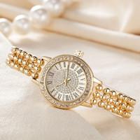 uhr kleid voller diamant großhandel-Neues Modell Luxusmode-Dame Kleid Klassische berühmte Marken-voller Diamant-Schmuck Frauen Quarzuhr der Qualitäts-Großhandel UhrWatch beobachten