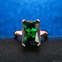 smaragd ringt diamanten großhandel-Europa und Amerika Diamant Ring weiblichen natürlichen Smaragd Schmuck Ehering Geburtstag Geschenk Engagement feinen Schmuck Verkauf