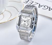 reloj de pulsera para hombre suizo al por mayor-2019 Hombres mujeres cuarzo datejust etiqueta plata relojes suizos Relojes deportivos Mujeres reloj de pulsera de día de alta calidad cronógrafo reloj esqueleto