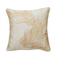 ingrosso cinesi cuscini di seta ricamati-High-end di lusso elegante Nuovo cinese Hgh precisione geometrica astratta raso di seta mogano sedie Divano cuscini ricamati Pillow12