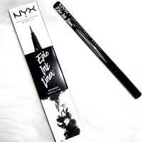 eye-liner durable achat en gros de-HOT NYX Cosmétiques Skinny Eye Marker Étanche Noir Liquide Eyeliner Eye-Liner Crayon Maquillage Maquiagem Long Lasting