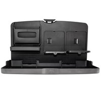 Wholesale tables storage resale online - Car Styling Multifunctional Car Seat Back Organizer Storage Table Foldable Vehicle Travel Dining Tray Auto Drinks Holder
