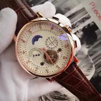 montres de marque de diamant des hommes achat en gros de-A-top marque montre de luxe tourbillon mécanique automatique montres-bracelets hommes montres jour date cadran en diamant pour mens rejoles cadeau Qualité