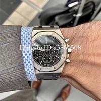 relojes de oro de calidad al por mayor-La nueva tapa hombres de lujo de alta calidad reloj de oro rosa de acero de 42 mm de Stanless VK cronógrafo de cuarzo movimiento deportivo relojes de los hombres