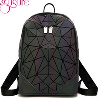 Wholesale backpack teens for sale - Group buy GUSURE Fashionable Luminous Irregular Triangle Women Backpack Rucksack Bag For Teen Student Bag School Daypack Large Capacity