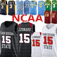 kostenlose college-logos großhandel-Kawhi # Leonard Jersey McGrady San Diego State Aztecs College Basketball-Trikots genähte Logos Freie Shipping2020