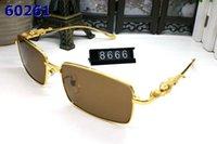 sınırsız ayna güneş gözlüğü toptan satış-Erkekler Için lüks Güneş Gözlüğü Marka Tasarımcı Çerçevesiz Manda Boynuzu Gözlük Kadın Güneş gözlükleri Ayna Alaşım Çerçeve Dikdörtgen UV400 kutu ile gel