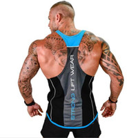 New Men Tank top Gyms Workout Fitness Bodybuilding sleeveless shirt Male clothing Casual Singlet vest Undershirt With Letter Printed