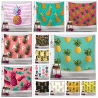 ананасовый стиль оптовых-25 стилей ананасовые серии настенные гобелены цифровые печатные пляжные полотенца банное полотенце домашнего декора скатерть открытый колодки CCA11587 20 шт.