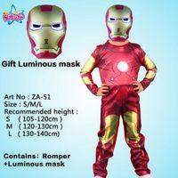 kostüm superman großhandel-Kinderkarikaturwirklichkeitsjungenmuskelsuperheldkostüm Spiderman, Batman Superman Iron Man-Kapitän America avengers Kleidung