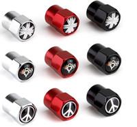 reifenventildeckel gti großhandel-Union Jack UK flag V8 Aluminiumlegierung Farbe drei Mini-Metall-Reifen-Ventil Ventile Reifen Staubkappe Kappen-Auto-Abzeichen-Emblem-Abzeichen-Antikriegszeichen AMG