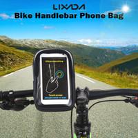 водонепроницаемый держатель телефона для велосипеда оптовых-Lixada водонепроницаемого переднего велосипеда мешок MTB дорожного велосипед Велоспорт Руль сумка сенсорного держатель для 6-дюймового телефона