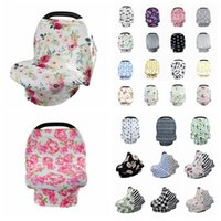 Wholesale tools cars resale online - 25styles Baby Floral Feeding Nursing Cover Newborn Toddler Breastfeeding Privacy Scarf Cover Shawl Car Seat Stroller Canopy Tools LJJA2301