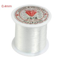 белая нейлоновая нить оптовых-Beading Weaving 1 White String Line Elastic Transparent 015kg Wire Spool 0 5 DIY cm Fish without 0 x 5 Nylon 01 Fishing