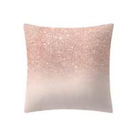 einfacher kissenbezug großhandel-Rose Gold Pink Kissen Kissenbezug Home Decoratio Einfache Mode Kissenbezüge Cafe Home Einfarbig Leinen Kissenbezug