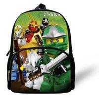 mochilas populares de desenhos animados venda por atacado-12 inch Criança Mochila Criança Popular Dos Desenhos Animados Saco de Escola Crianças Moda Pequena Ninjago Mochila Meninos Meninas Saco Do Bebê Y19051701