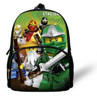 beliebte cartoon-rucksäcke großhandel-12 zoll Kleinkind Mochila Kind Beliebte Cartoon Schultasche Kinder Mode Kleine Ninjago Rucksack Kleine Jungen Mädchen Baby Tasche Y19051701