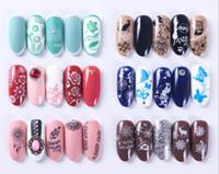 Nueva Nail Art Sello Salud Clavo Que Estampa El Modelo De La Flor De La Geometría Del Clavo De Diy Animales Diseños De Plantilla De Manicura Placa De