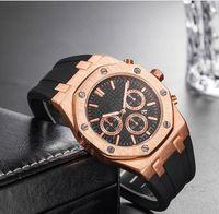 senhoras relógios mecânicos venda por atacado-Marca Mens Relógios Mecânicos Royal Oak Cinta De Silicone de Luxo de Alta Qualidade Designer de Relógio homem das senhoras Das Senhoras relógio Casual 10 estilos