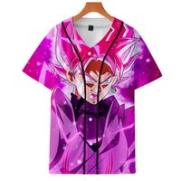 ingrosso giacca manica shopping-Drop Shopping 2019 New Super Son Goku Kakarotto 3D uniforme da baseball manica corta da uomo / donna Giacca casual