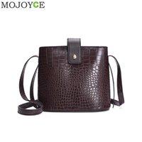 sacos de balde de couro venda por atacado-Crocodile Crossbody Bag For Women Shoulder Bag Marca Designer Mulheres Sacos de luxo PU Leather Handbag Bucket