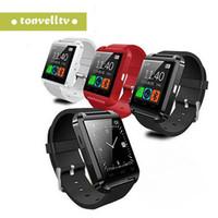 u8 интеллектуальный вызов ответа на вызов оптовых-Smart Bluetooth Watch U8 Smartwatch для iPhone Android телефонов отвечать на звонки наберите звонки SMS MMS камера многофункциональная синхронизация смарт-часы