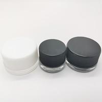 kafa yağlı geri dönüşüm cihazı toptan satış-Cam Konsantre Konteyner Wax Dab Kavanoz Yağ Kuru Herb 5ml Cam Kavanoz Packaging çocuk dirençli Şişe DHL hızlı sevkiyat