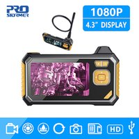 iobd2 xtool großhandel-1080P HD 8mm Industrie Endoskop 4,3-Zoll-Auto-Reparatur-Inspektionskamera Endoscope Lithium-Batterie Schlange Fest Kamera