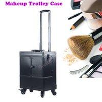 ddc974a99 Estuche de maquillaje de gran capacidad profesional de maquillaje de gran  capacidad para cosméticos de aluminio.