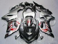 carenado para kawasaki ninja rojo zx6r al por mayor-Caliente completo del nuevo ABS kit de carenado de la motocicleta para Kawasaki Ninja ZX6R 636 2005 2006 motocicleta cuerpo carenado rojo de encargo de la llama