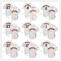 camisetas de práctica de béisbol al por mayor-Jersey de béisbol de bateo Práctica Astros jerseys Alex Bregman George Springer José Altuve Jeff Bagwells Cooperstown malla hombres de Houston