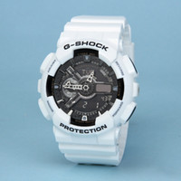 Wholesale led silicone watch resale online - Ga100 sports brand men s watch silicone with multi function LED digital men s and women s watch