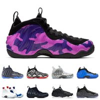 baskets de basket violet pour les hommes achat en gros de-Nike Air Foamposite Pro Penny Hardaway Chaussures de basket-ball KNICKS USA OBSIDIAN GLITTER PURPLE CAMO HYPER COBALT baskets DR.DOOM SNAKESKIN Sport Sneaker 7-13