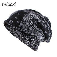 Wholesale black hat women vintage resale online - New Fashion Women Autumn Beanies Skullies Ladies Scarf Double Used Casual Cotton Hat Warm Vintage Hats Brand Bonnet Gorras