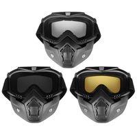 Wholesale goggles for open face helmet for sale - Group buy Outdoor Motorcycle Mask Detachable Goggles Motorcycle Glasses for Open Face Motorcycle Half Helmet