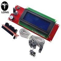 controlador de impressora venda por atacado-Controlador de LCD Printer 2004 Longteng 3D com slot para cartão SD para Rampas 1.4 - Exibição RepRap Para impressora 3D
