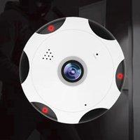 cámara de seguridad gran angular noche al por mayor-Cámara IP panorámica de 360 grados Fisheye 3D VR 1080P Wifi inalámbrico 2.4GHZ Cámara de seguridad Super gran angular Soporte IR Noche