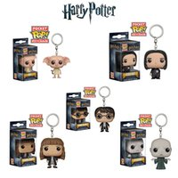 Wholesale figures toys harry potter for sale - Funko Pop Keychain Harry potter Action Figures Anime Collection Doll kids Toys Movie Anime Key chain Keyring Kid Toy design lol