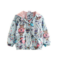 Wholesale girls cute raincoats resale online - New Autumn Baby Girls Coat Cute Cartoon Printed Children Kids Outerwear Jacket Raincoat For Girl