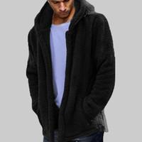 tragen pelzmäntel großhandel-Mens Winter Warm Bärentasche Flauschiger Mantel Fleece Pelz Jacken Oberbekleidung Mantel