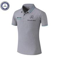sütyen gömlekleri toptan satış-2019 Araba logosu T-shirt 02 araba F1 moda yeni ücretsiz kargo T-shirt Mercedes-AMG logosu araba yolu baskılı T-shirt tüm boyutları.