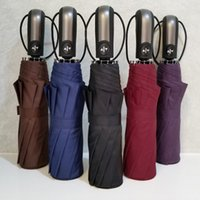 ingrosso grande piegatura ombrello-5 colori resistente al vento tre pieghevole automatico ombrello pioggia donne auto di lusso grandi ombrelli antivento uomini telaio ombrelli antivento
