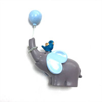 Wholesale elephant baby decor for sale - Group buy Ornament Gift Baby Shower Accessories Cute Elephant Shape Dessert Table Decor Cake Decorations Picks Resin Cupcake Toppers