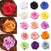 Wholesale flower hair accessories brooches resale online - 1PC DIY Headdress Hair Accessories For Bridal Bridesmaids Wedding Cloth Red Rose Head Hairpin With Pin Brooch Artificial Flower
