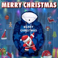 hoodie türleri toptan satış-3D Baskı Noel Hoodies 9 Türleri Moda Erkekler ve Kadınlar Yetişkinler için Renkli Karikatür Tişörtü Noel Giysileri Ücretsiz Kargo