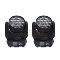 Wholesale stage lighting head 15w resale online - 2Pcs x15w Zoom Moving Head Light Wall Wash light With Circle Control Function w Stage Light