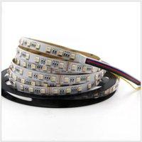 12 volt led streifen weiß großhandel-5050RGBWW Lampe mit fünf in einem bunten RGB + Farbtemperatur (CCT) 24V 5 Farblichtbalken