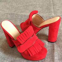 chancleta de playa de tacón alto al por mayor-2019 sandalias de moda zapatillas para mujer tacones altos diseñador caliente flor impresa playa chanclas zapatillas tamaño 35-41